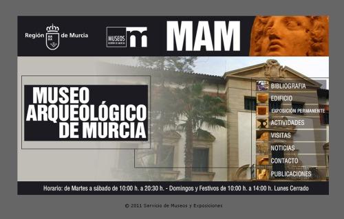 Captura de pantalla de la web del MAM, Mueso Arqueológico de Murcia. Labrujulazul.wordpress.com.